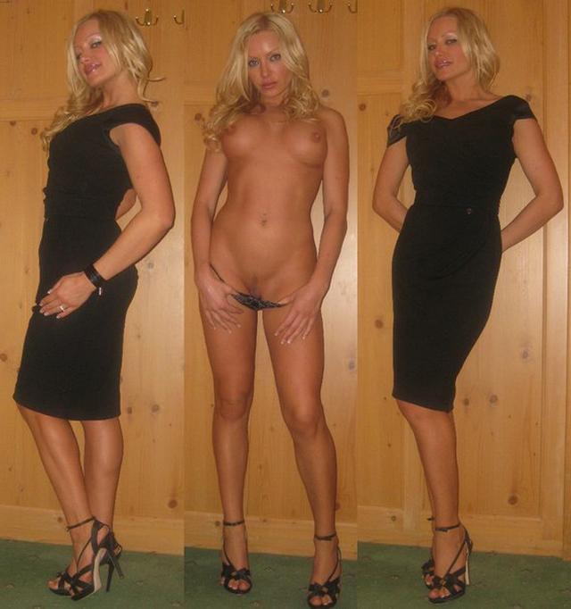 Замужняя блонди с ровными ножками фотографируется для юного соседа